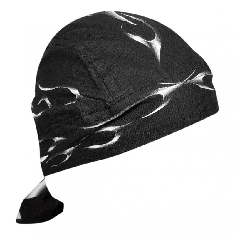 Bandana Zan Headgear Zandannas Flydanna® Tank flame noir/blanc