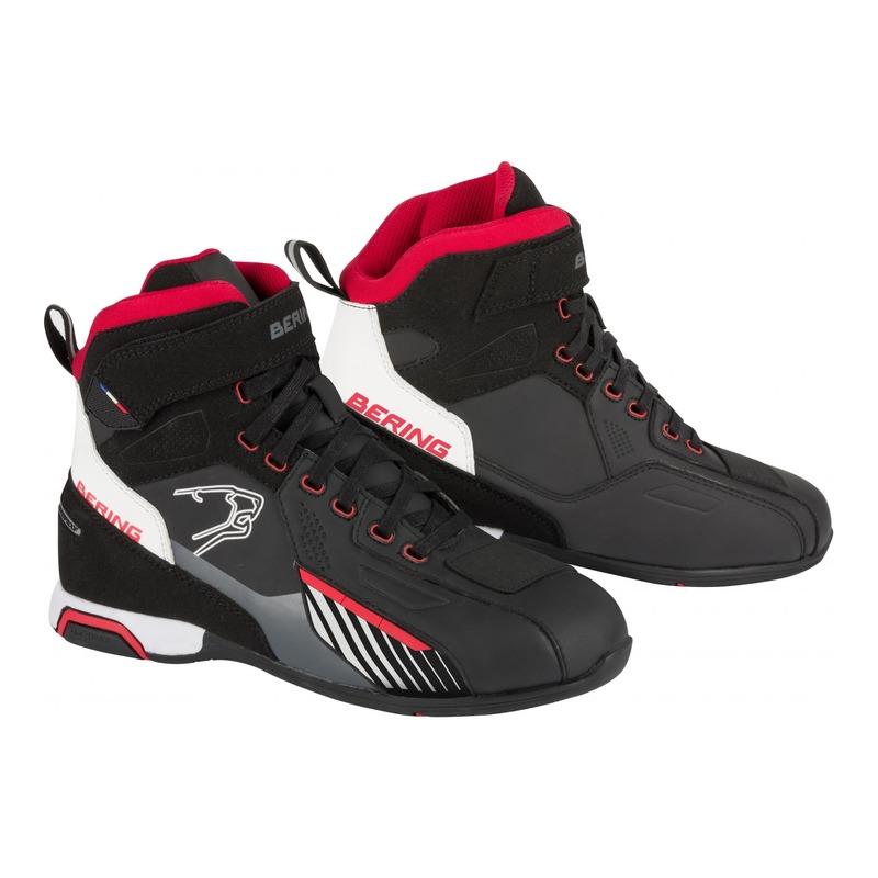 Basket moto Bering Tiger noir/blanc/rouge
