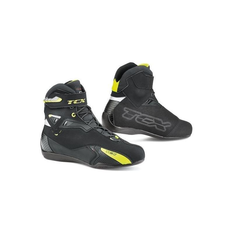 Baskets TCX Rush Waterproof noir/jaune fluo