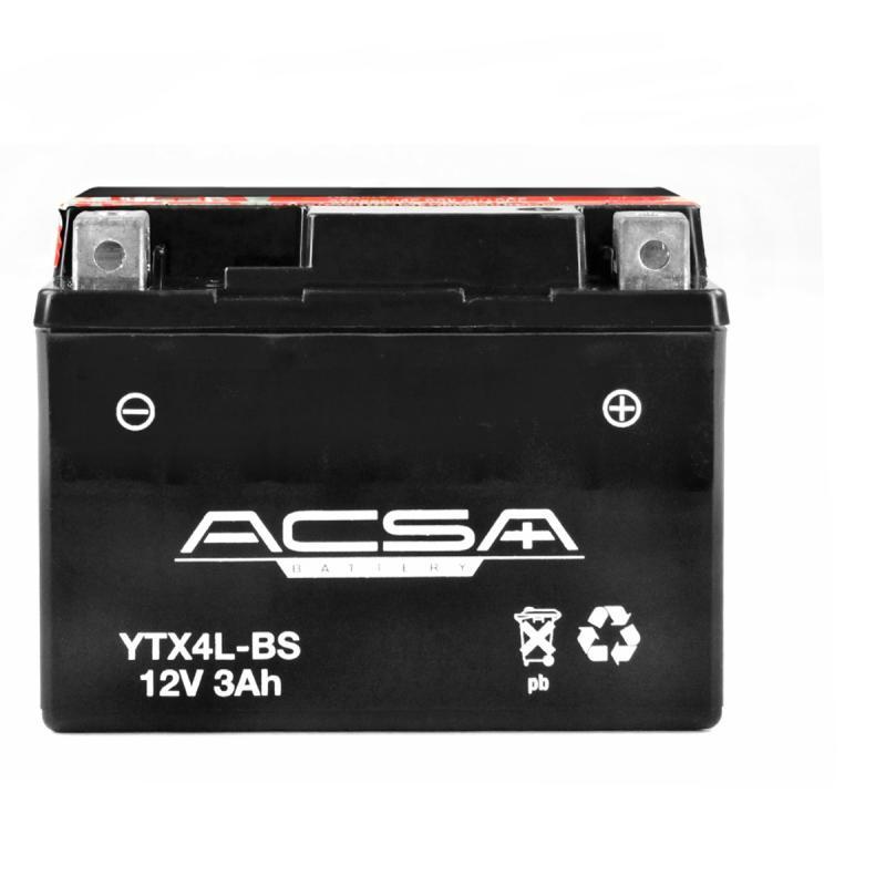Batterie Acsa YTX4L-BS 12V 3AH