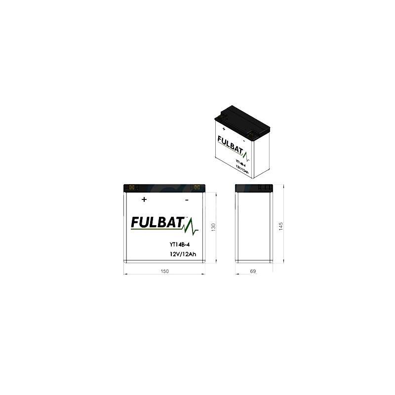 Batterie Fulbat YT14B-4 12V 12Ah