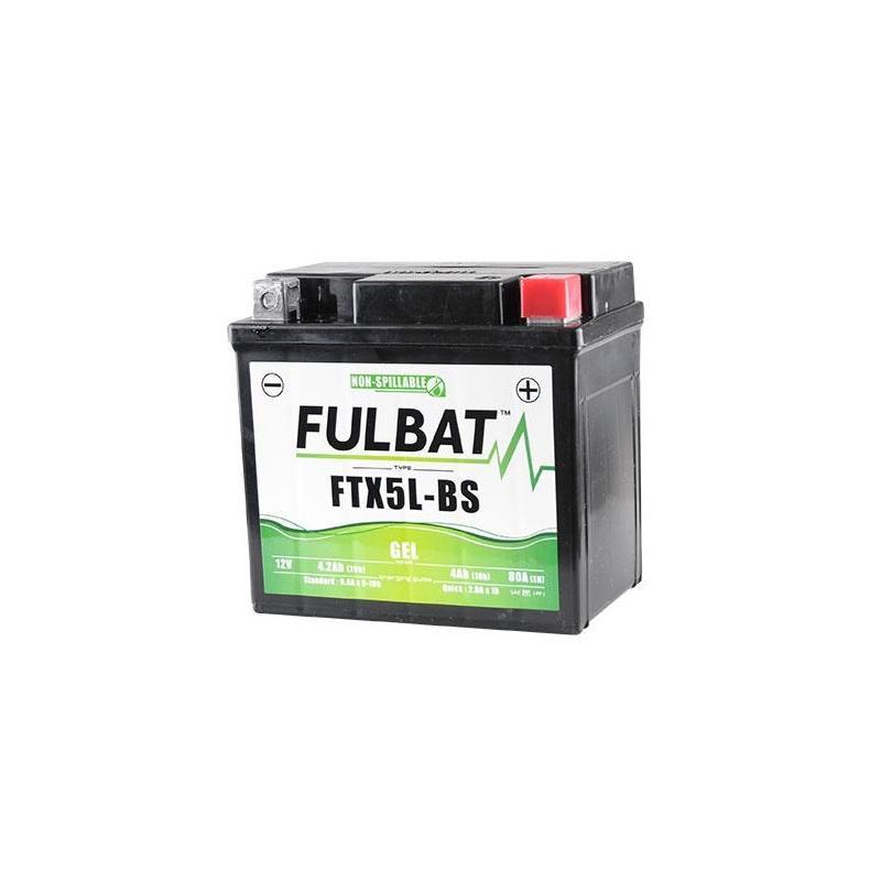 Batterie Fulbat FTX5L-BS gel 12V 4Ah