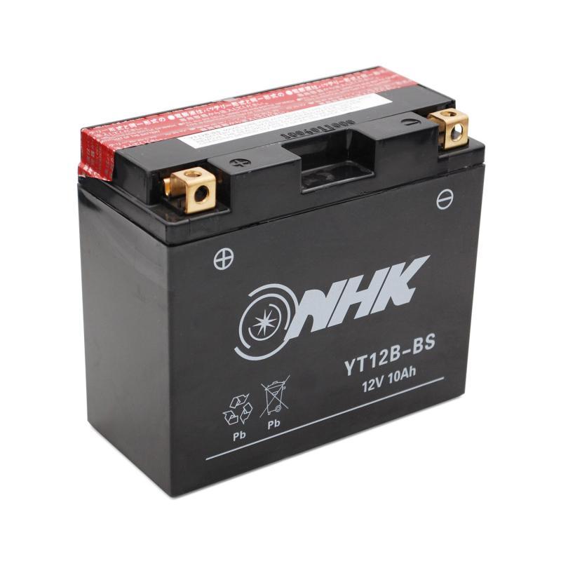 Batterie NHK YT12B-BS 12V 10Ah avec entretien livrée avec pack acide