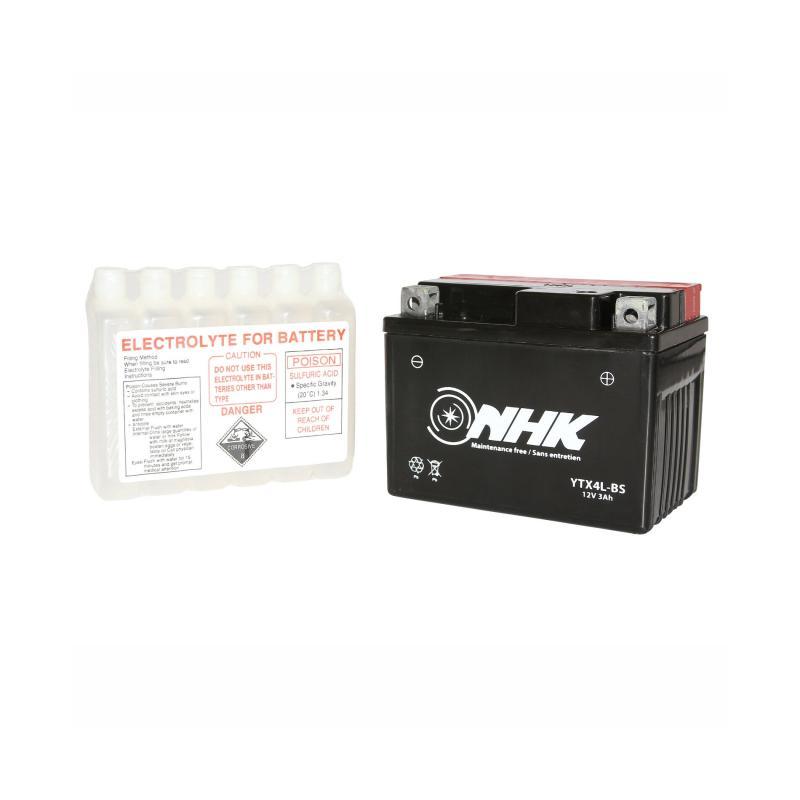 Batterie NHK YTX4L-BS 12V 3Ah avec acide