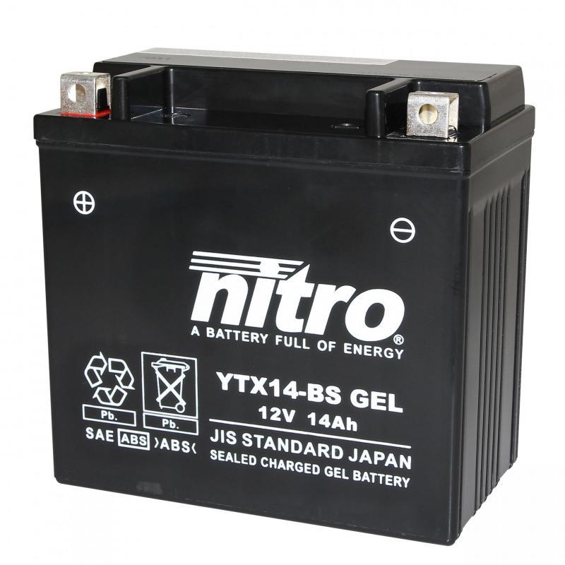 Batterie Nitro YTX14-BS 12V 12 Ah Gel