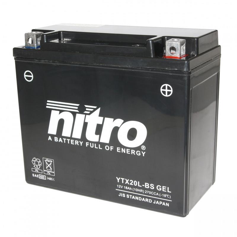 Batterie Nitro YTX20L-BS 12V 18 Ah Gel