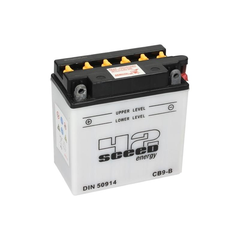 Batterie Sceed 42 YB9-B 12V 9Ah avec pack acide