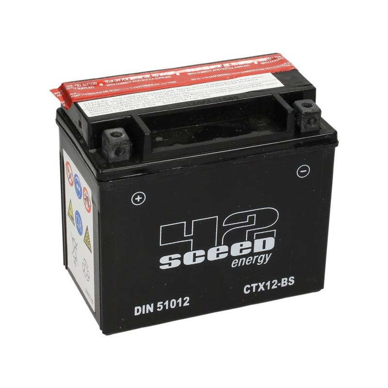 Batterie Sceed 42 YTX12-BS 12V 10Ah avec pack acide