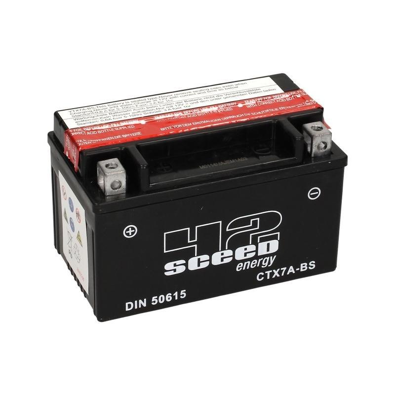Batterie Sceed 42 YTX7A-BS 12V 6Ah avec pack acide