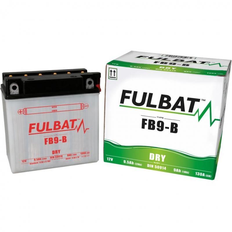 Batterie moto YB9-B 12V 9Ah Fulbat
