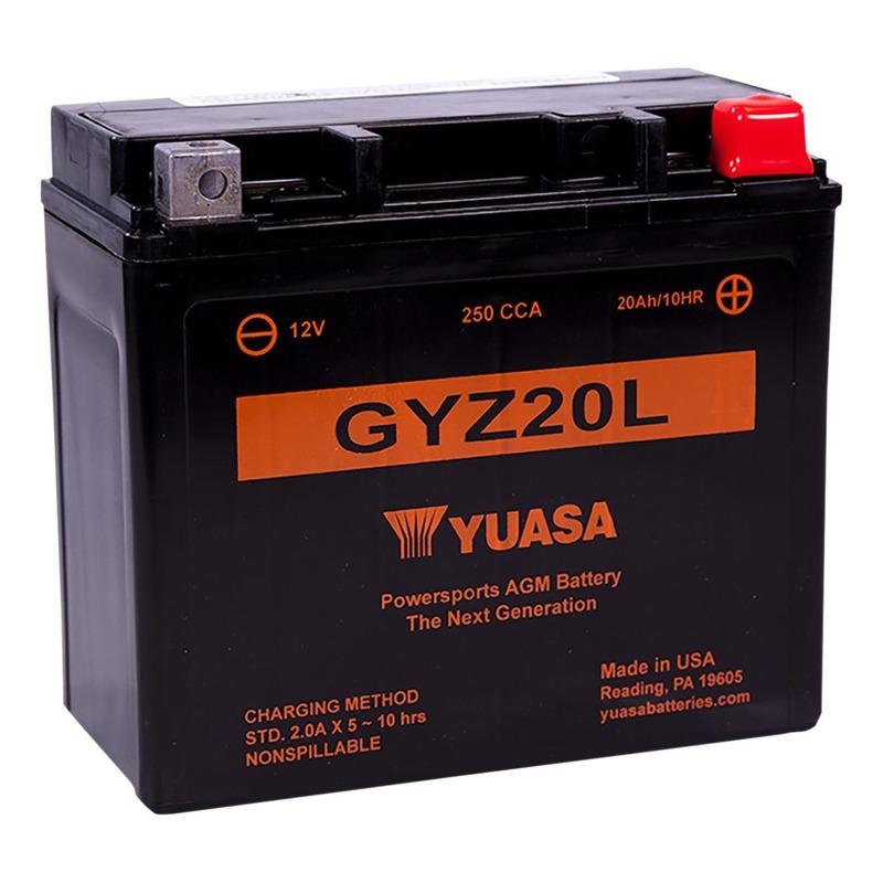 Batterie Yuasa GYZ20L 12V 20Ah prête à l'emploi