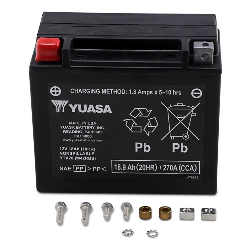 Batterie Yuasa YTX20 12V 18Ah prête à l'emploi