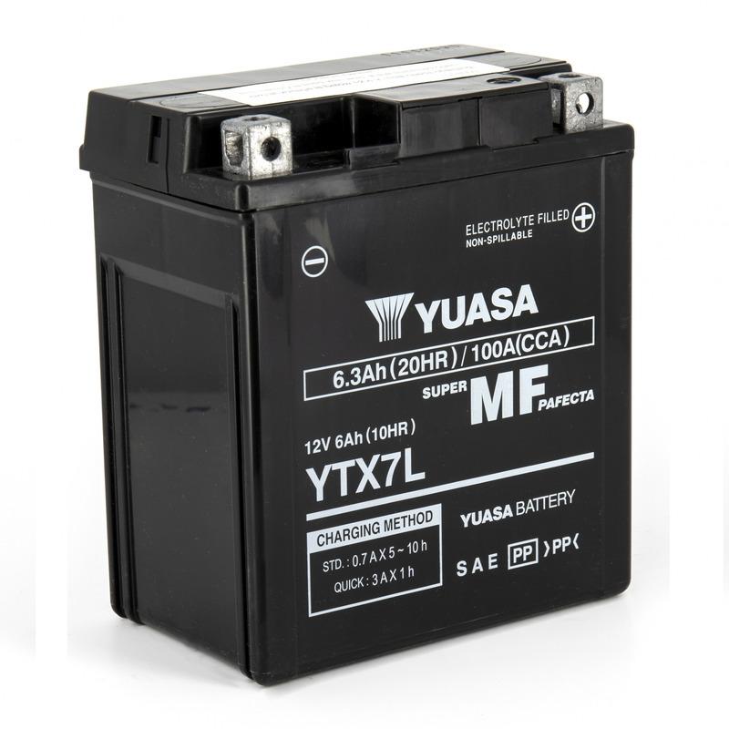 Batterie Yuasa YTX7L-BS 12V 6,3 Ah prête à l'emploi