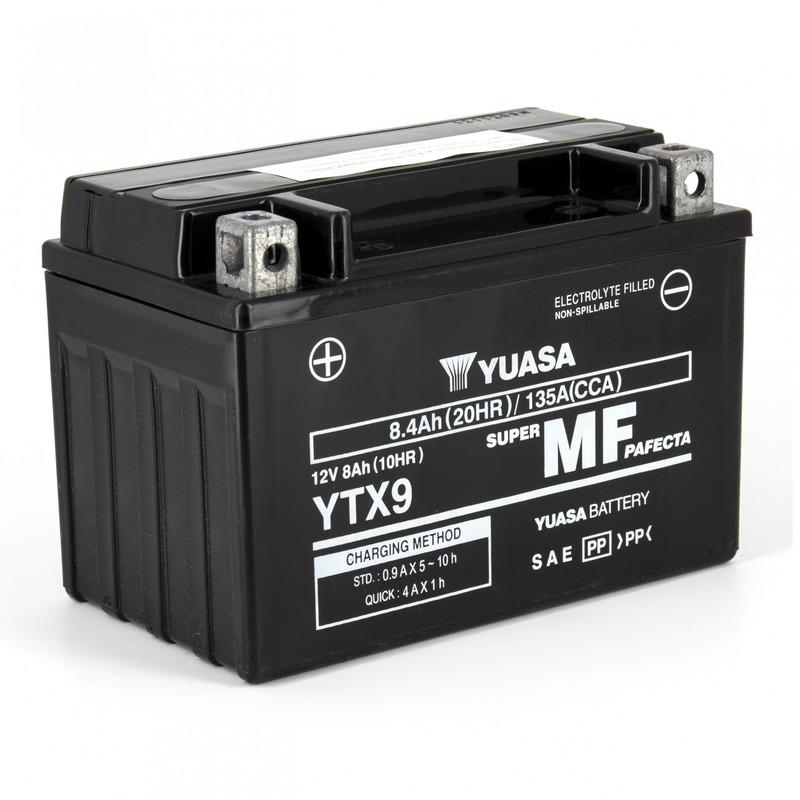 Batterie Yuasa YTX9-BS 12V 8,4 Ah prête à l'emploi