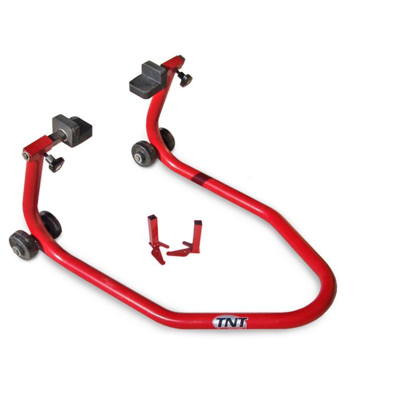 Béquille arrière moto TNT rouge