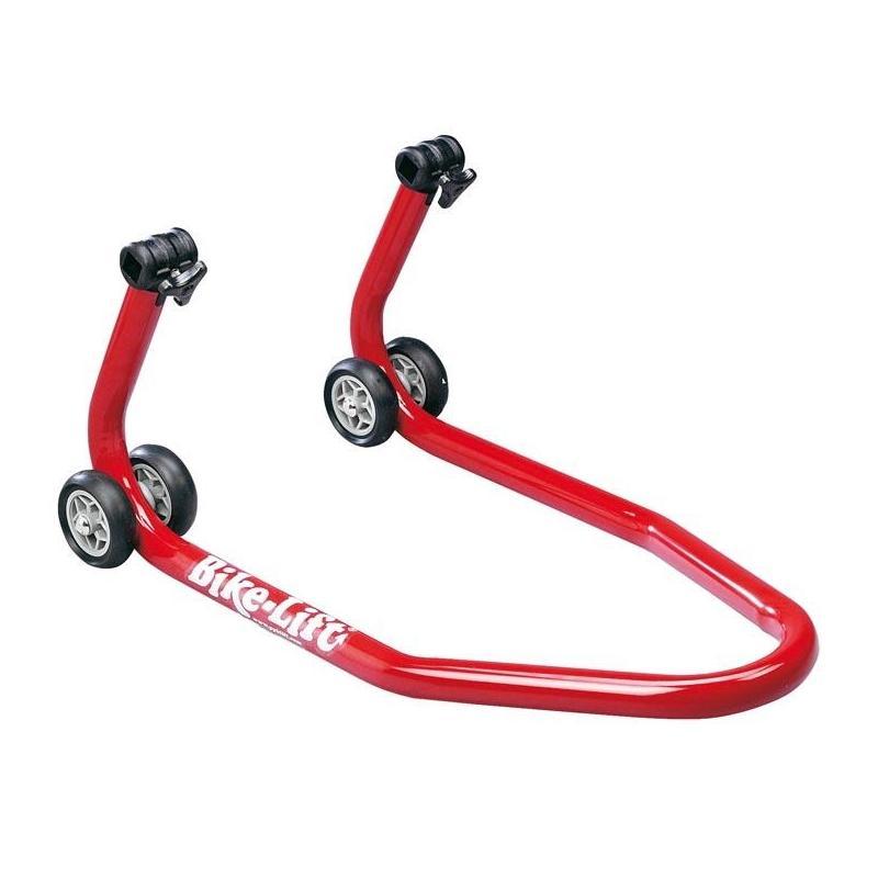 Béquille avant rouge Bike Lift universelle avec supports coniques