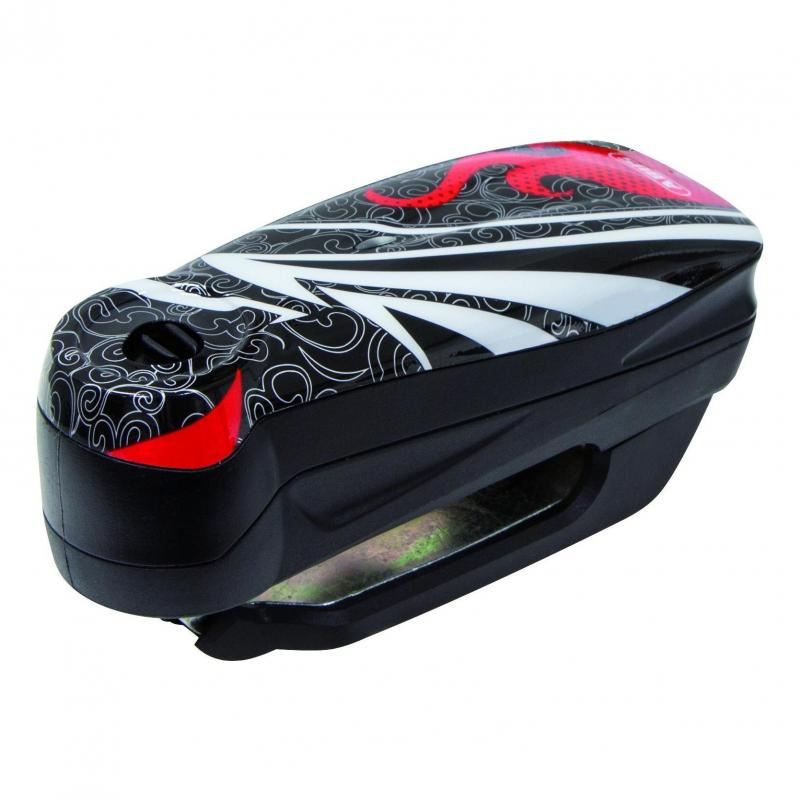 Bloque disque Abus Detecto 7000 RS1 rouge / noir avec alarme