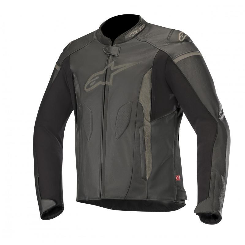 Blouson cuir Alpinestars Faster noir