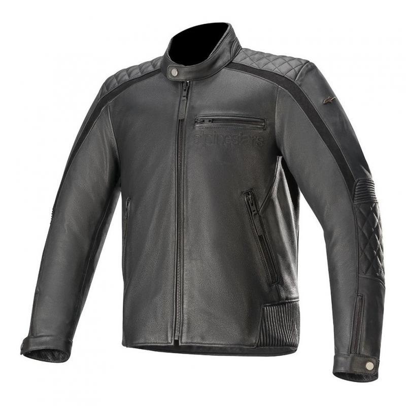 Blouson cuir Alpinestars Hoxton V2 noir