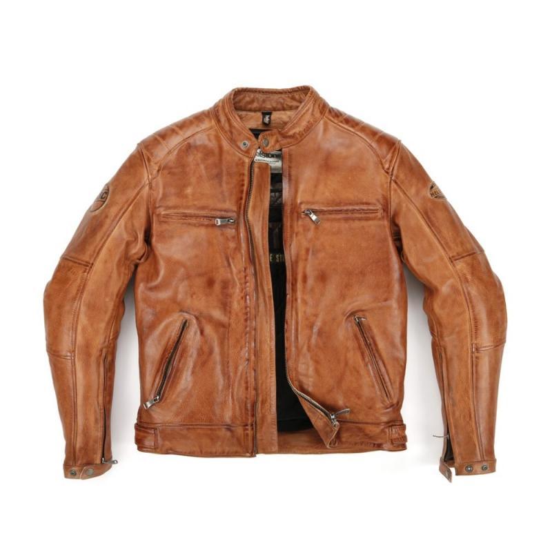 Blouson cuir Helstons TRACK RAG marron
