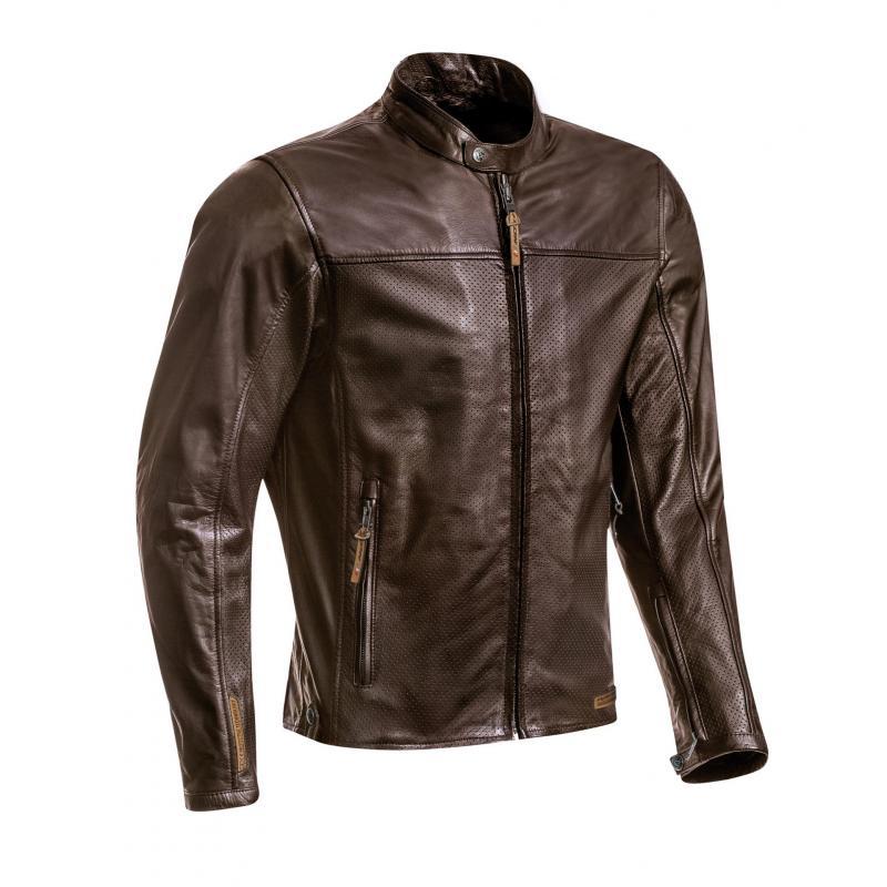 Blouson cuir Ixon Crank Air marron