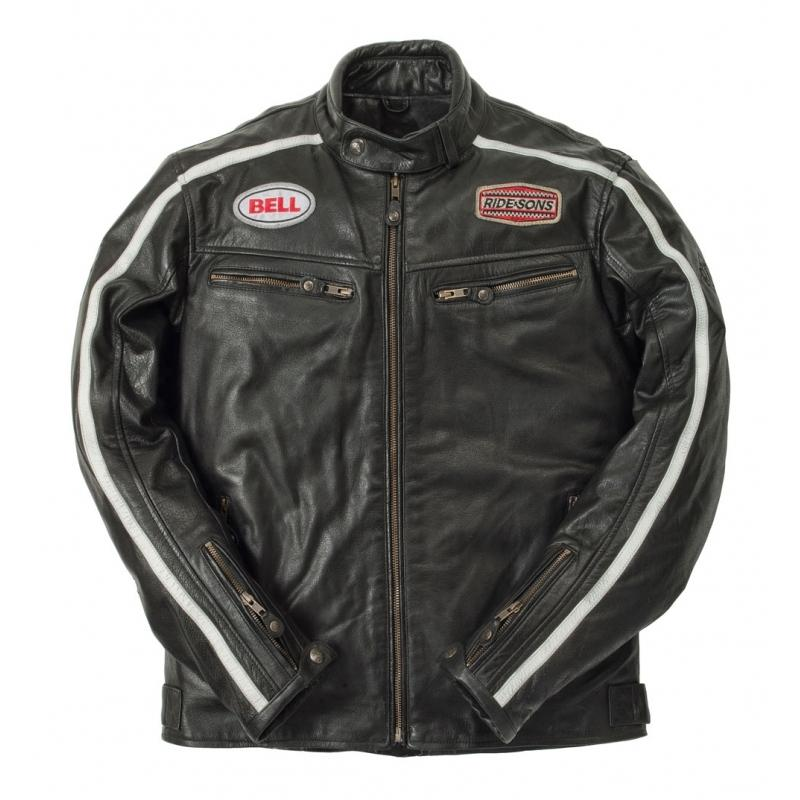 Blouson cuir Ride And Sons HERITAGE RACING Buffalo Skin noir