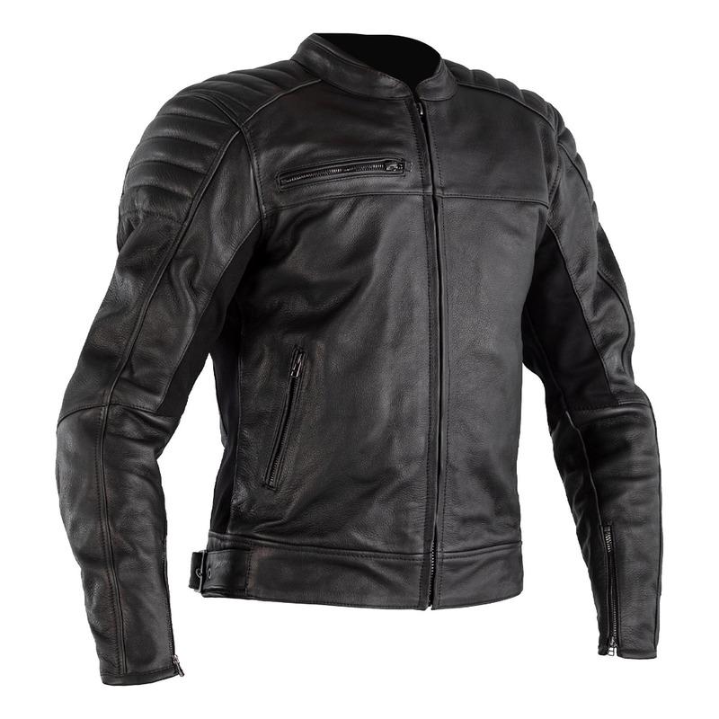 Blouson cuir RST Fusion Airbag noir