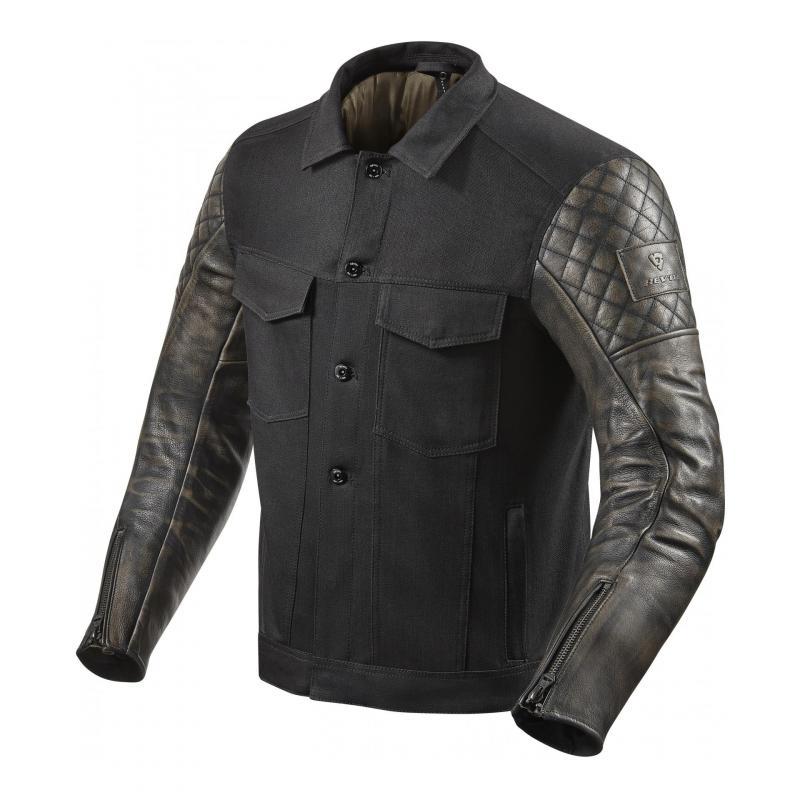 Blouson cuir/textile Rev'it Crossroads noir