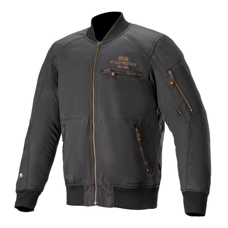 Blouson textile Alpinestars Oscar Bomber noir