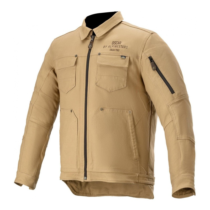 Blouson textile Alpinestars Oscar Trucker dark khaki