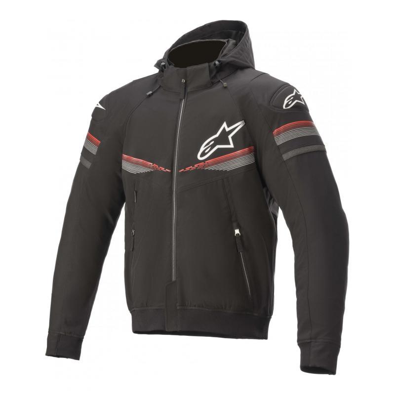 Blouson textile Alpinestars Sektor V2 noir/bright/rouge