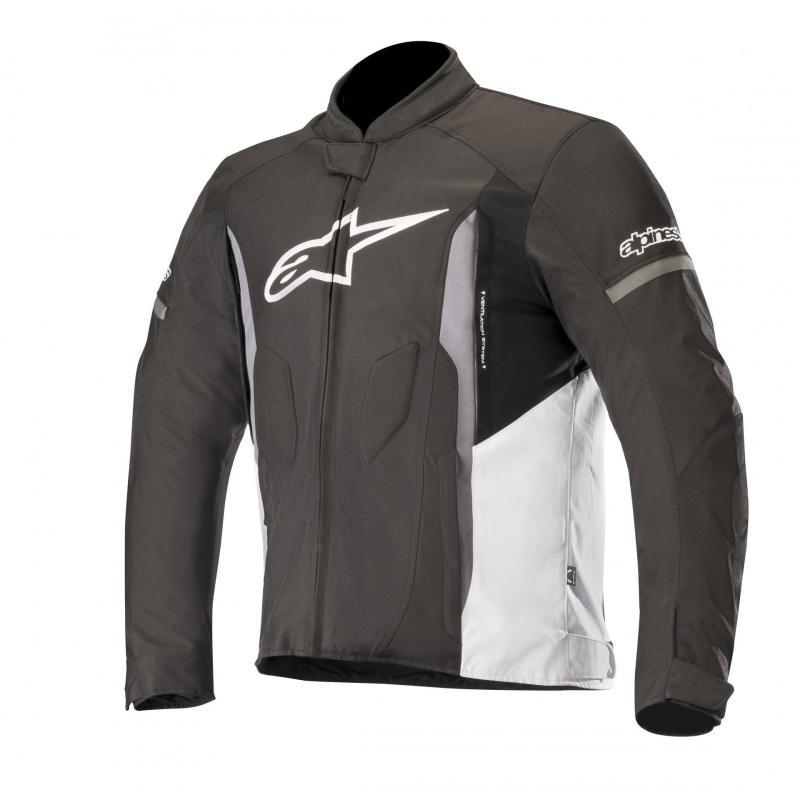 Blouson textile Alpinestars T-Faster noir/blanc/gris foncé