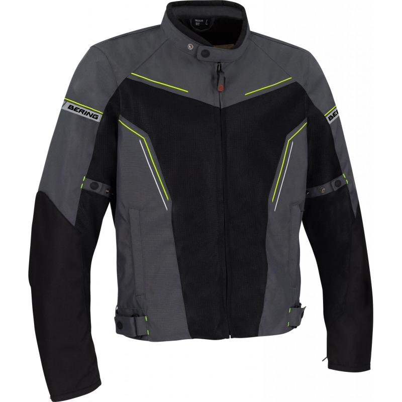 Blouson textile Bering Cancun gris/noir/jaune
