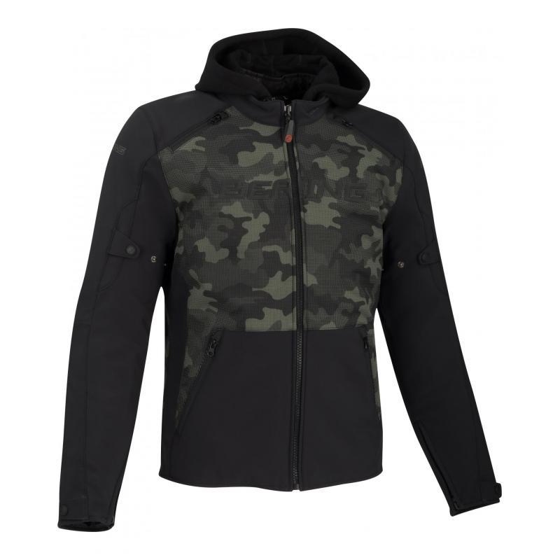 Blouson textile Bering Drift noir/camo