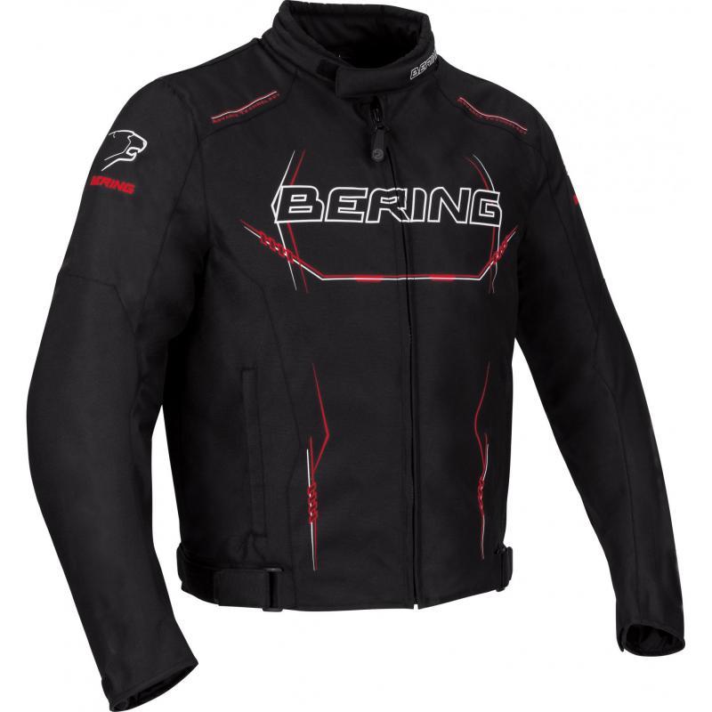 Blouson textile Bering Forcio noir/blanc/rouge