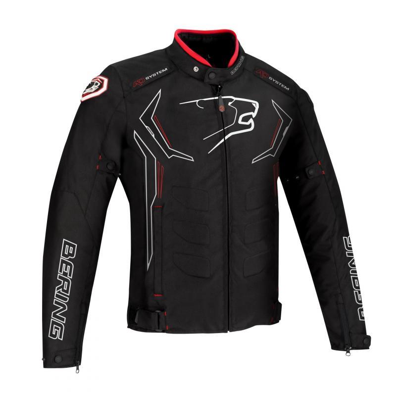 Blouson textile Bering Guardian noir/blanc/rouge