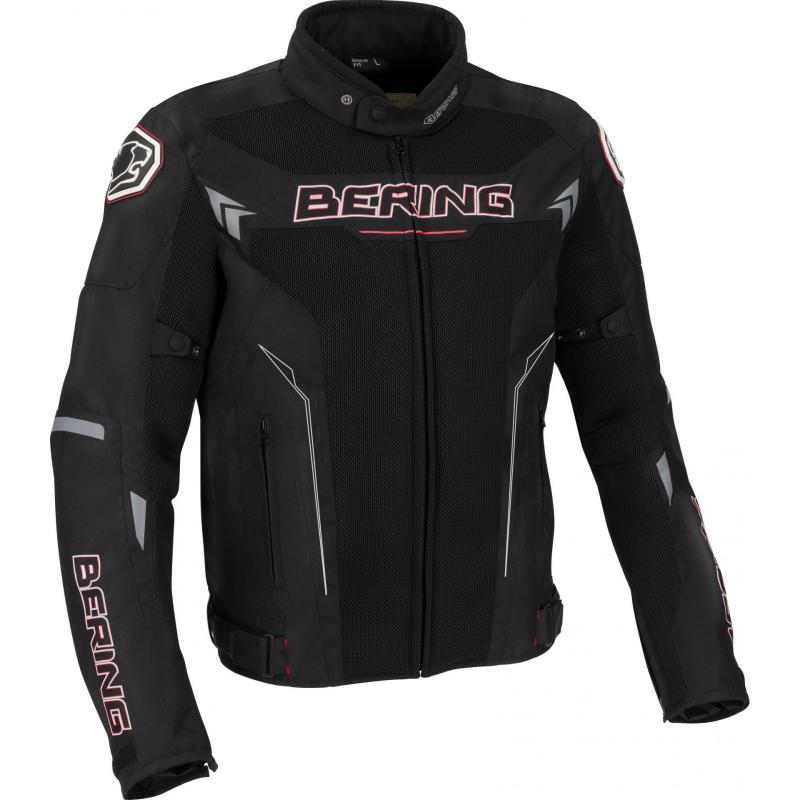 Blouson textile Bering Mistral noir/rouge