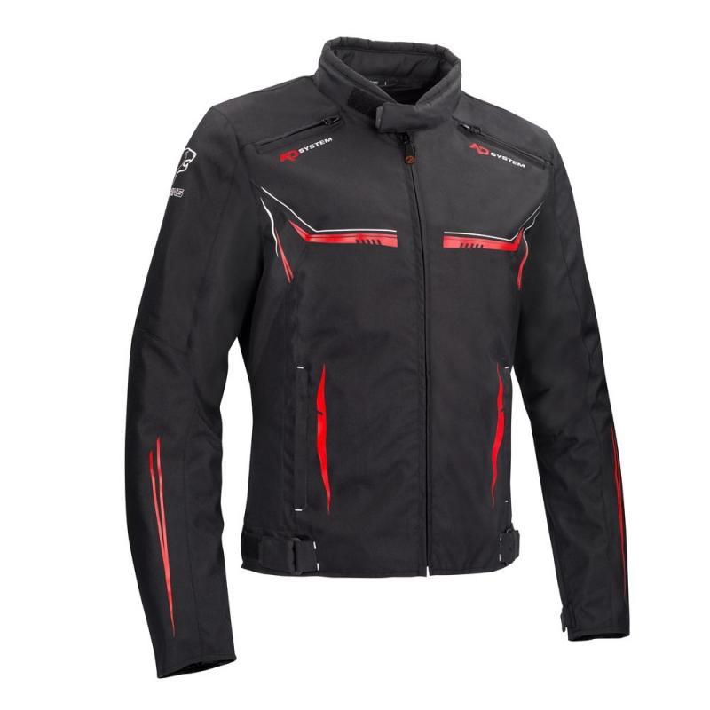 Blouson textile Bering Ross noir/rouge