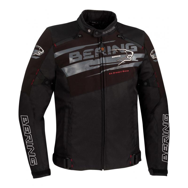 Blouson textile Bering Vikos noir/gris