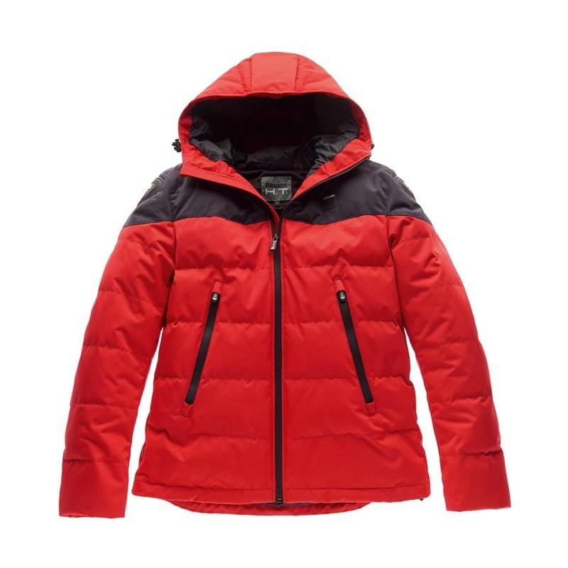 Blouson textile Blauer Easy Winter Man 2.0 rouge/bleu