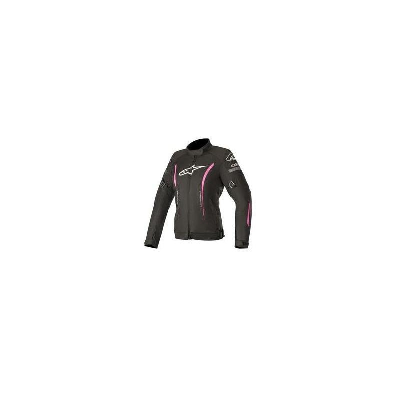 Blouson textile femme Alpinestars Stella Gunner V2 Waterproof noir/rose