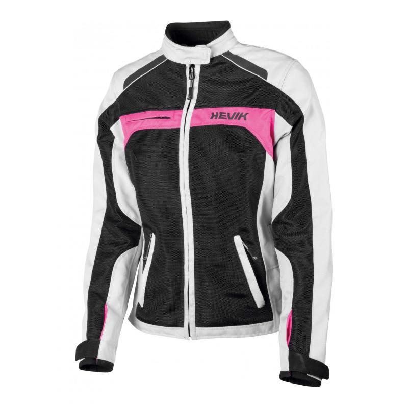 Blouson textile femme Hevik Scirocco noir/gris/rose