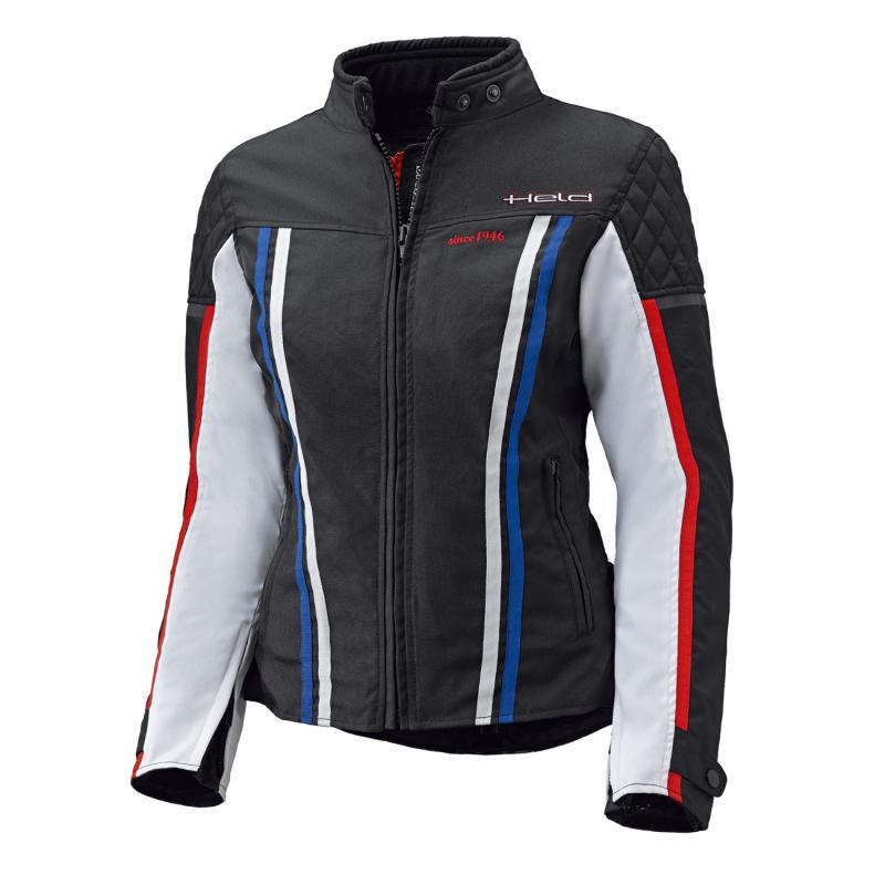 Blouson textile Held femme Jill noir/blanc/rouge/bleu