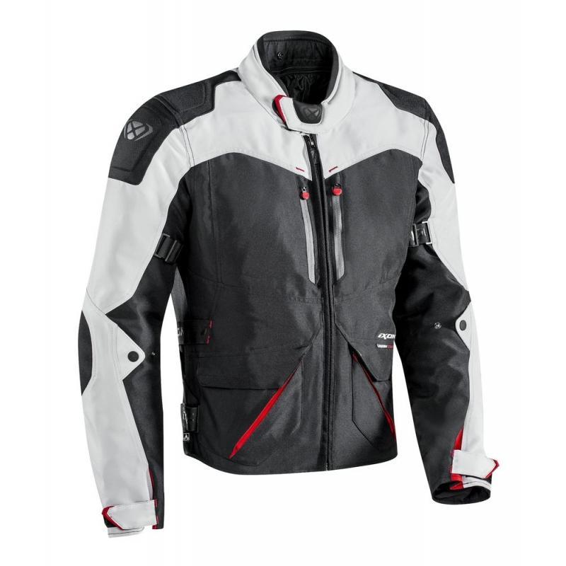 Blouson textile Ixon ARTHUS noir/gris/rouge