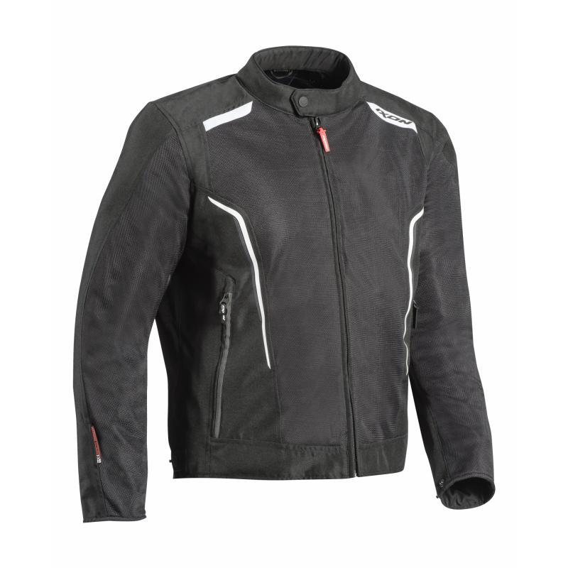 Blouson textile Ixon Cool Air C-Sizing noir/blanc