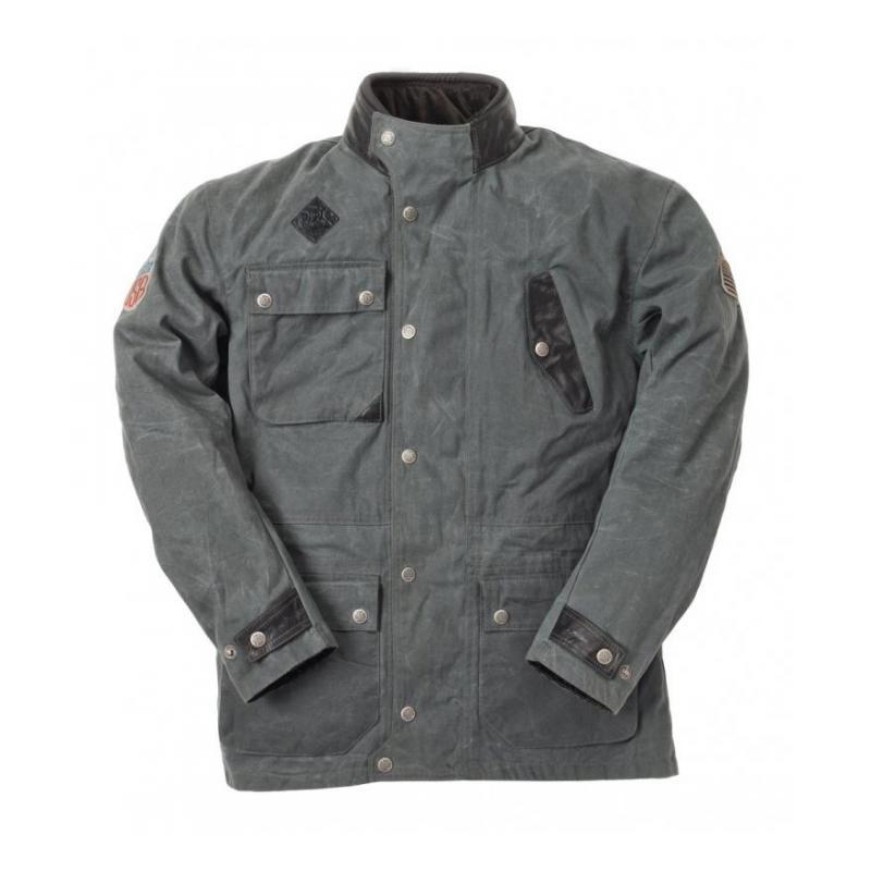 Blouson textile Ride And Sons ESCAPE Waxed gris