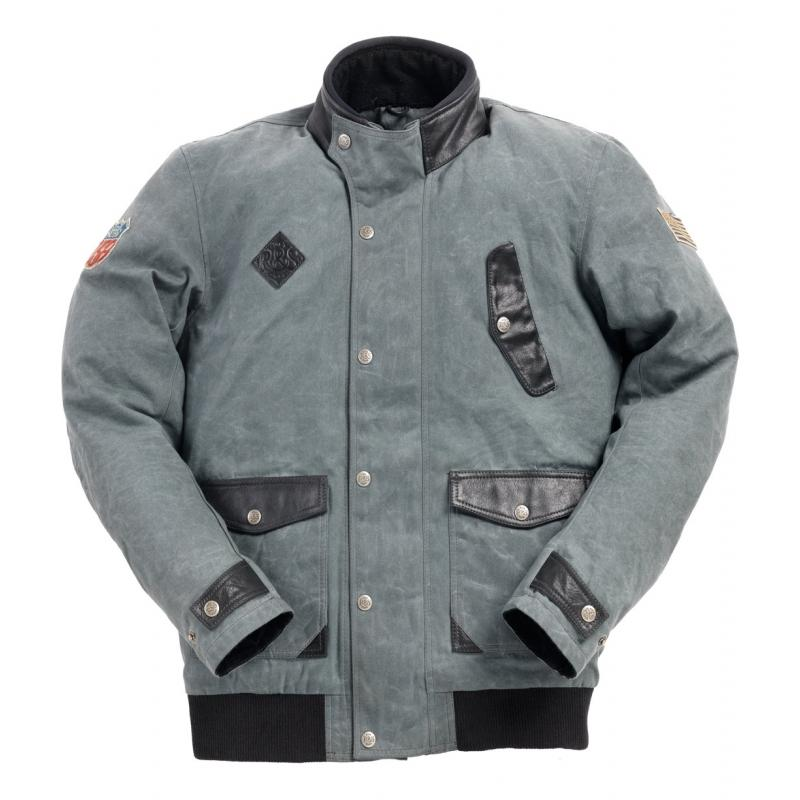 Blouson textile Ride And Sons RUNAWAY Waxed gris