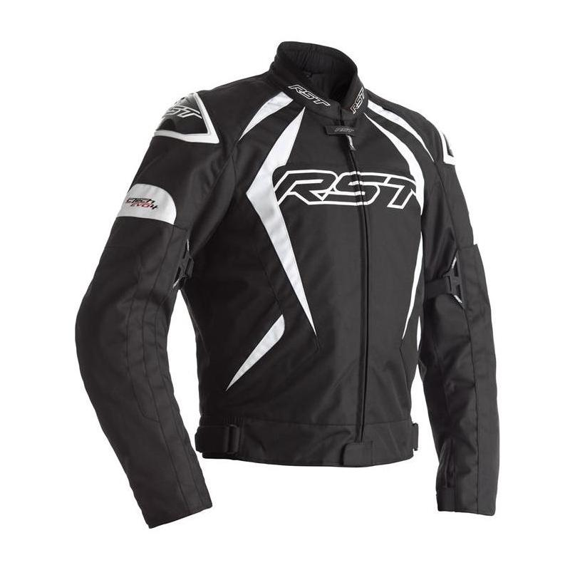 Blouson textile RST Tractech EVO 4 noir/blanc