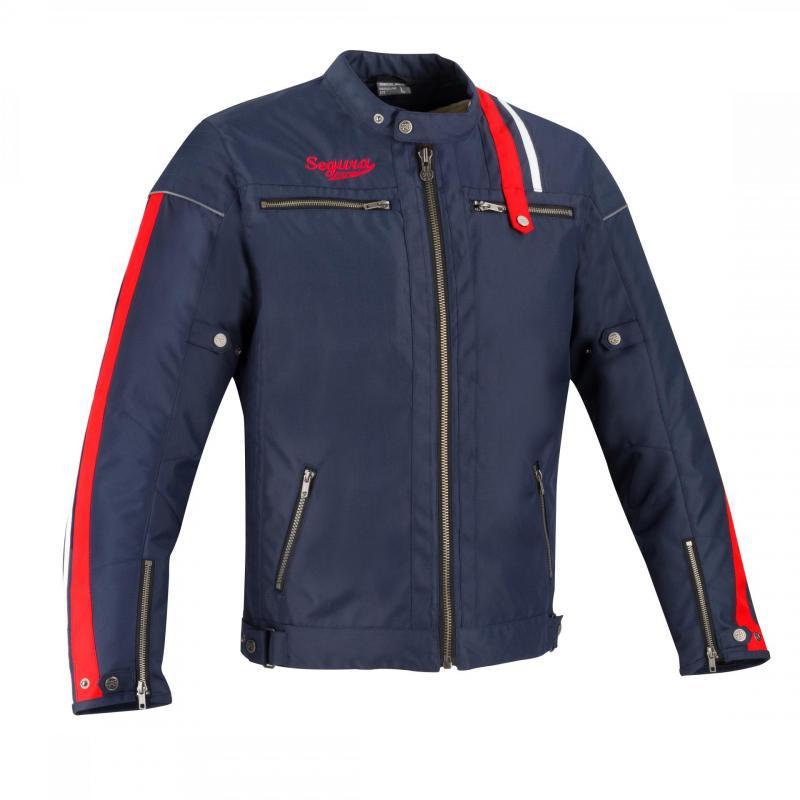 Blouson textile Segura Brooster Marine/rouge/blanc