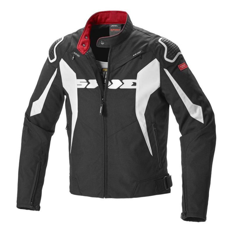 Blouson textile Spidi Sport Warrior Tex noir/blanc